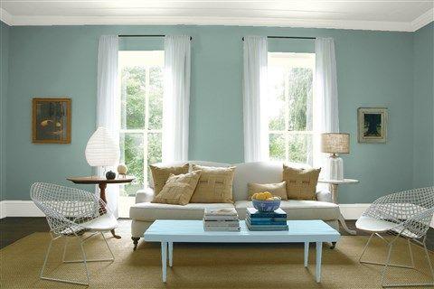 Paint Color Combination I Created With Benjamin Moore Via Wall Grenada Villa 690 Trim Intense White Oc 51 Table Mediterranean Sky