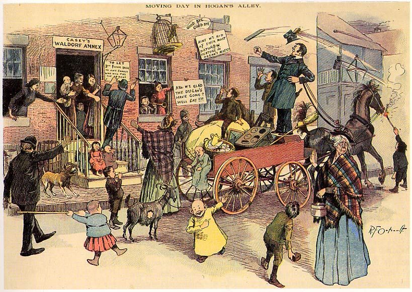 Hogans alley 1890 s comic strip