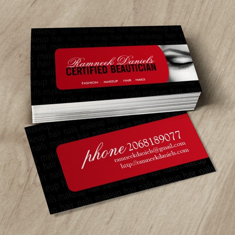 Beautician Business Card | Pinterest | Business cards, Business and ...
