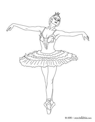 Ballerina Tanzt Eine Vorstellung Zum Ausmalen Balet Ausmalen