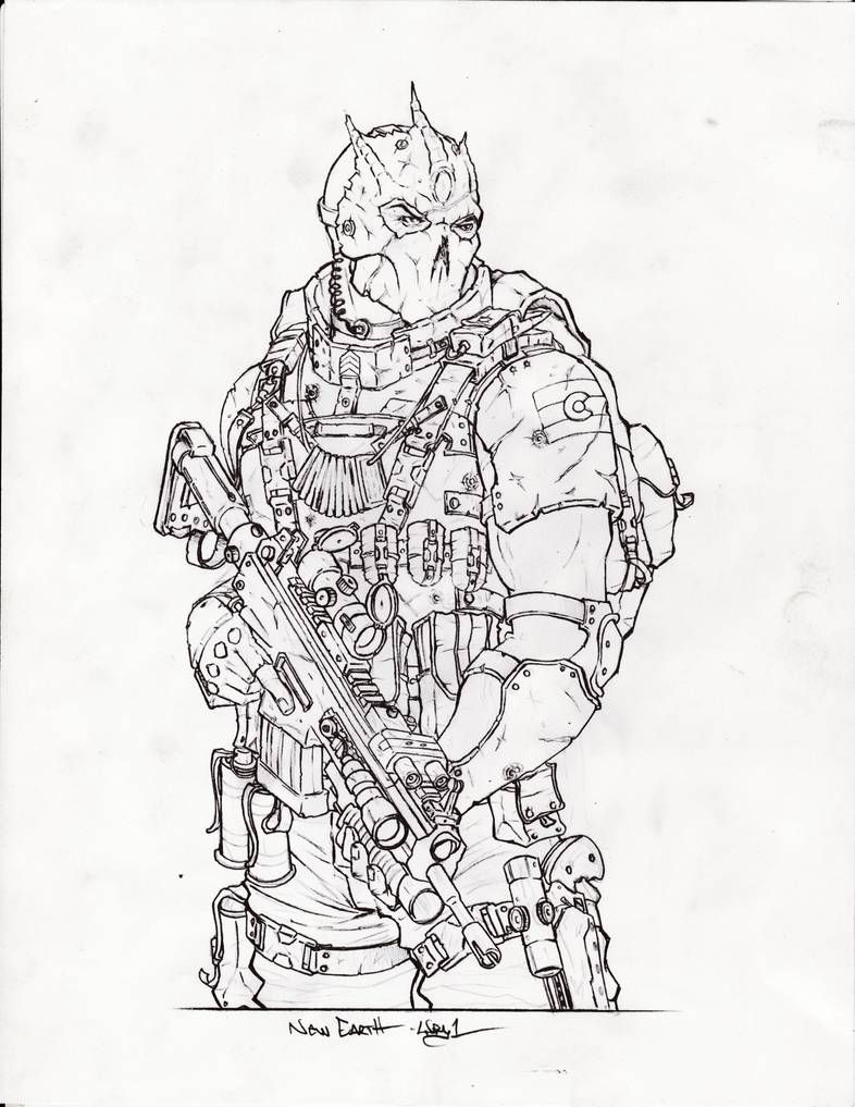New Earth Dude By Wry1 On Deviantart Character Design Inspiration Military Drawings Anime Drawings Tutorials