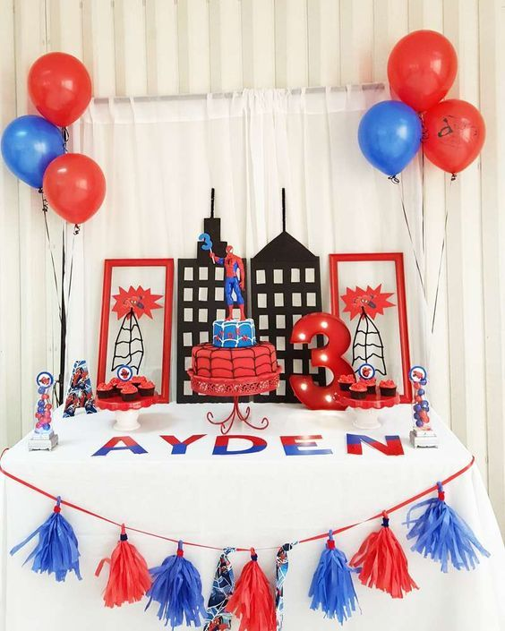 21 Spiderman Birthday Party Ideas Spiderman Dessert table and