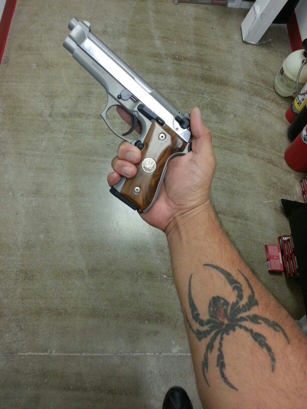 Beretta 92fs Stainless with wood grips