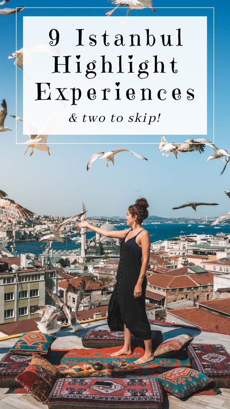 Here are 9 top things to do in beautiful Istanbul... and 2 to skip! #turkey #traveltips #travel #istanbul #photography includes: Turkish food, Instagrammable spots, rooftops, hamams, cooking lessons, museums, markets, bazaars, terrraces, neighborhoods and places to visit, ferry to #bosphorus and #kadikoy + antiques