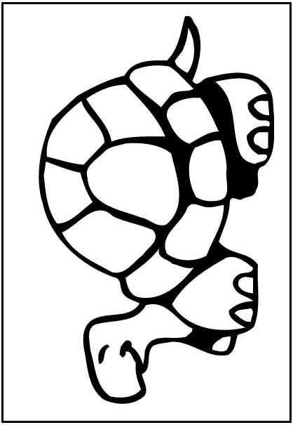 Turtle Coloring Page Boy Crafts