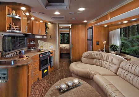 Photos Of Rvs | Coachmen Leprechaun 320DS Class C MotorHome Interior    Front To Back