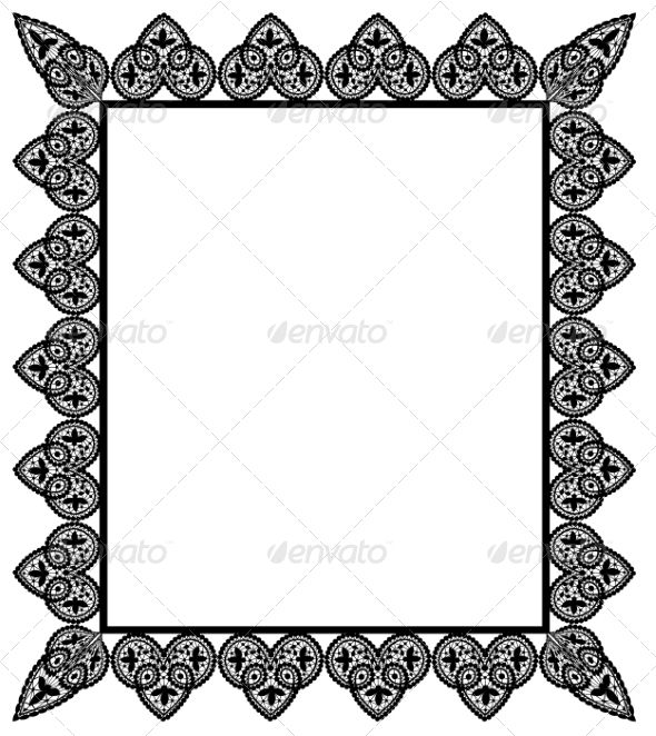 Set Lace Fonts-logos-icons Vector border, Design, Border templates