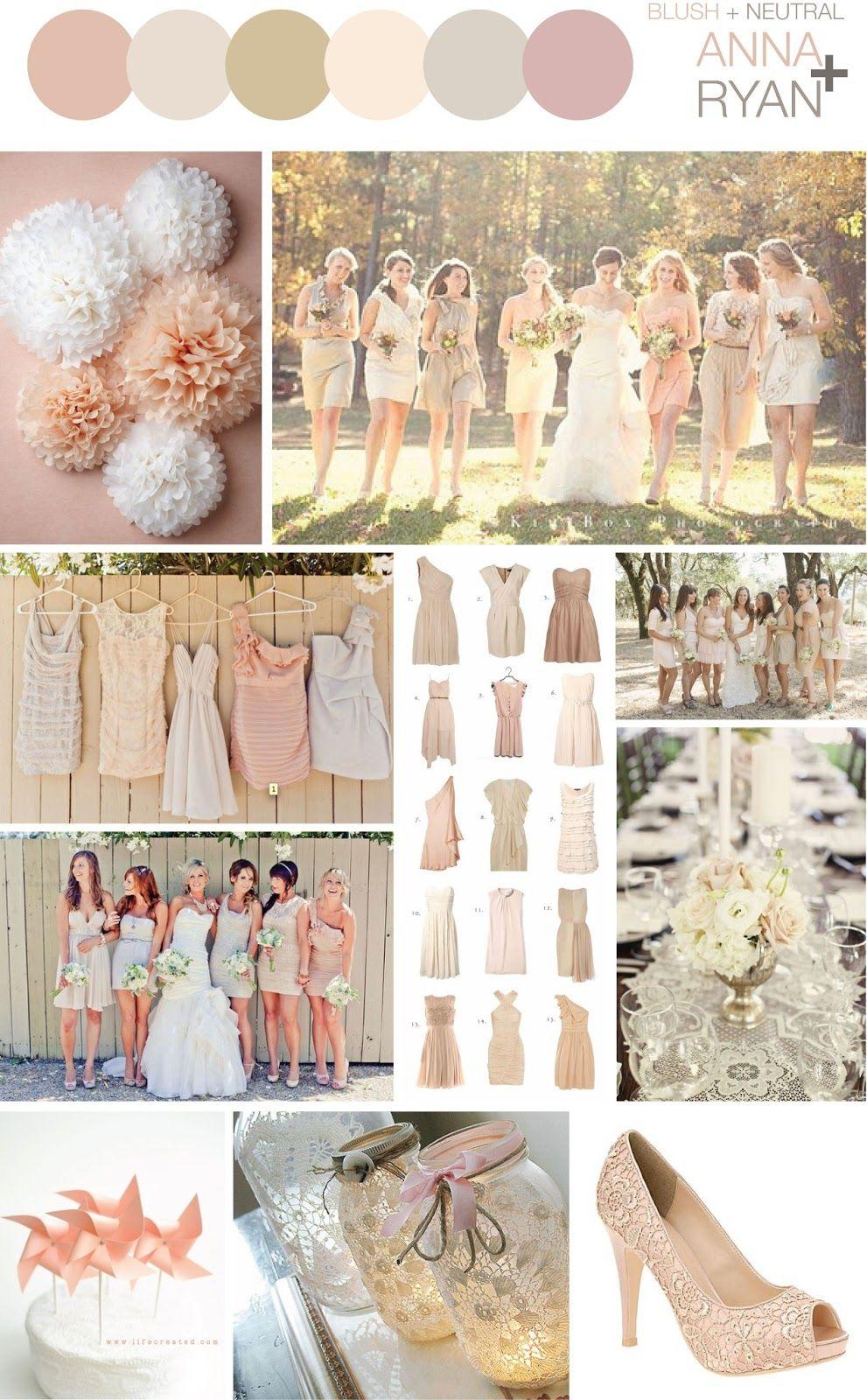 Blush + Neutral Color Scheme - Wedding | Wedding Ideas | Pinterest ...