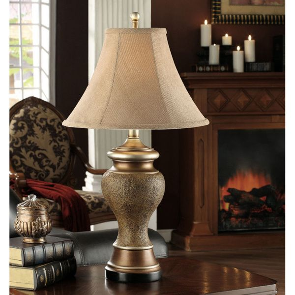Antique Brown Gold Table Lamp Set Of 2 Overstock Com Shopping The Best Deals On Table Lamps Gold Living Room Decor Table Lamp Sets Gold Table Lamp