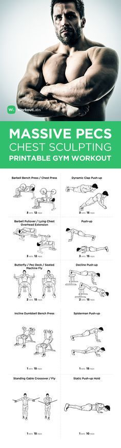 Visit WorkoutLabs Workout Plans Massive Pecs Chest Sculpting For Men A FREE PDF Of This