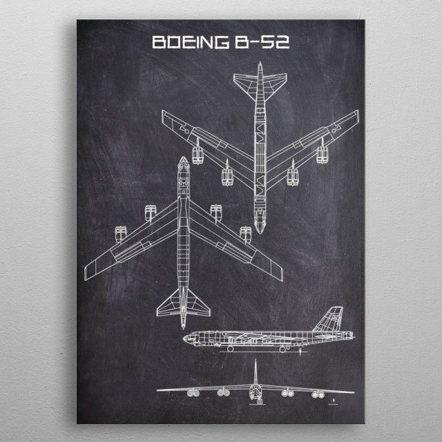 BOEING B52 by FARKI15 DESIGN | metal posters - Displate | Displate thumbnail