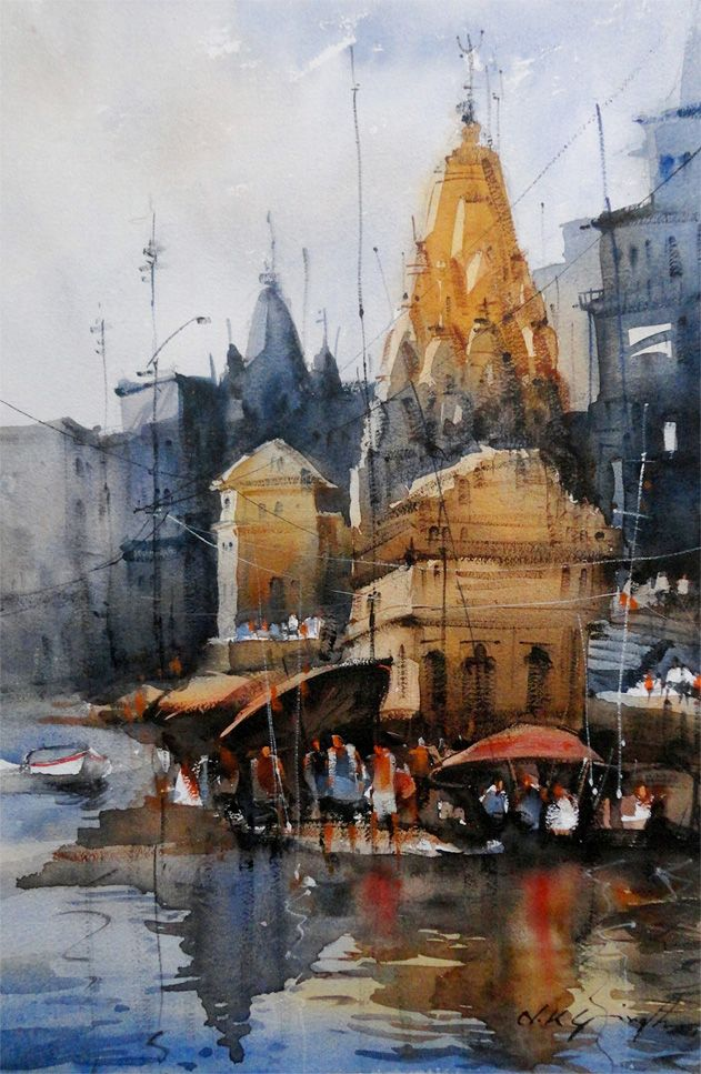 Best Watercolor Paints Watercolor Landscape Paintings Indian