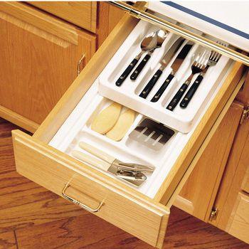 Drawer Organizers Rev A Shelf  Tier Insert Cutlery Kitchen Drawer Organizer