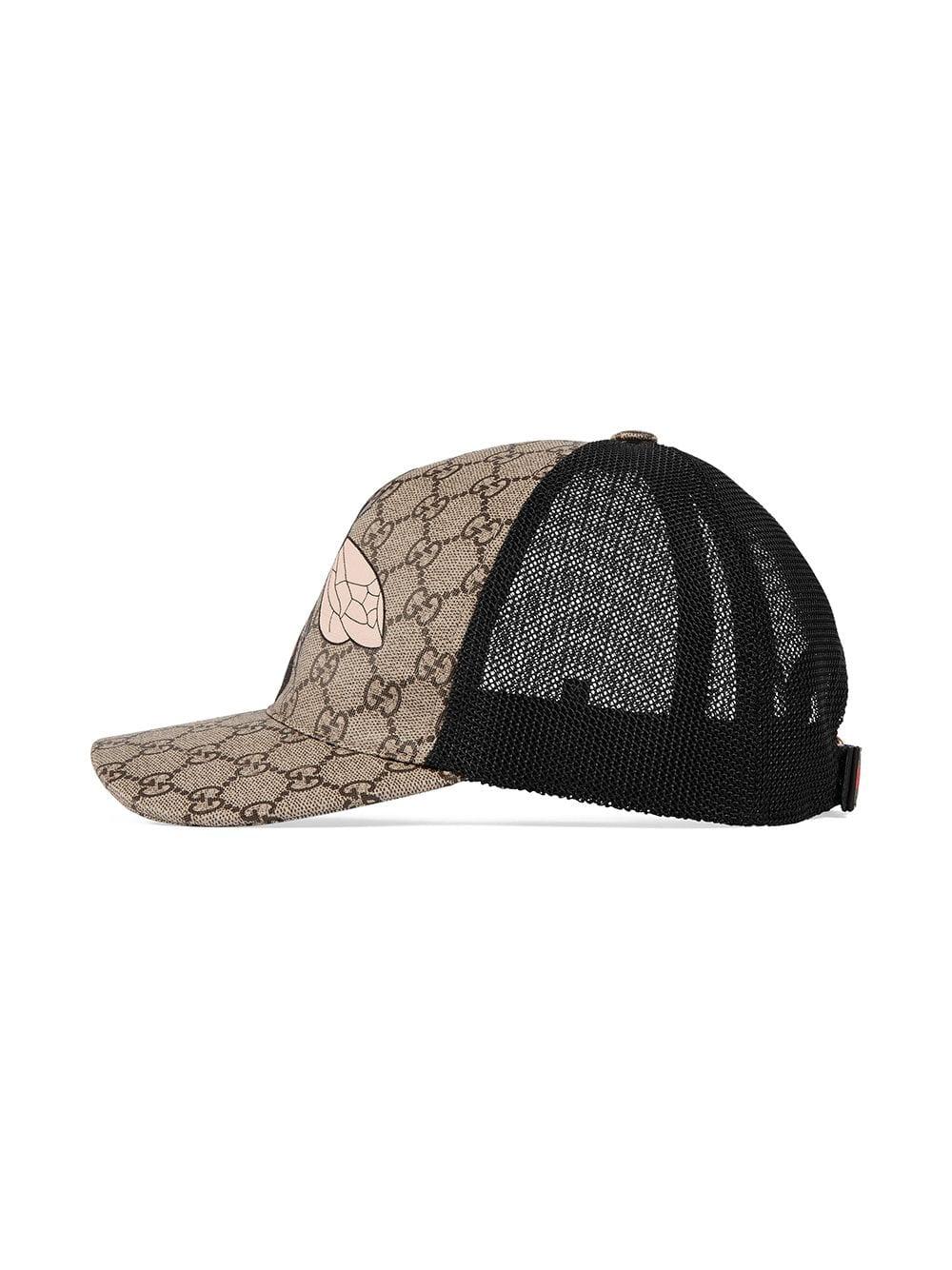 e5a2d63014b5a3 Gucci Bee print GG Supreme baseball hat - Neutrals in 2019 ...