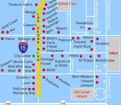 Las Vegas Hotel Map Steden Cities Pinterest Vegas