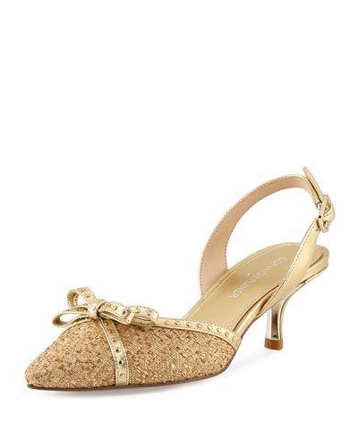 donald j pliner outlet 7wjt  DONALD J PLINER Dede Metallic Slingback Sandal #donaldjpliner #shoes #pumps