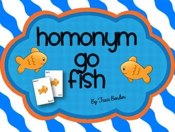 HOMONYM GO FISH - TeachersPayTeachers.com free until midnight 12/22/13