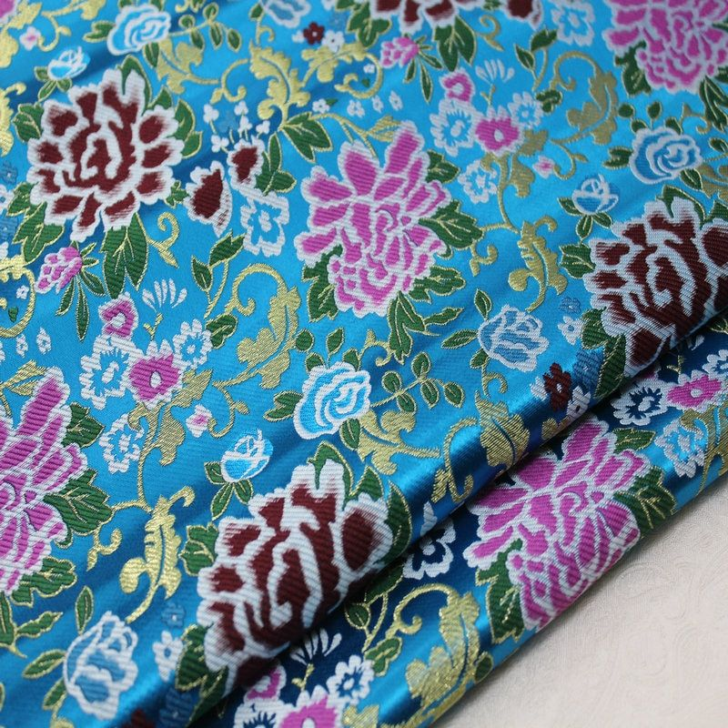 CF512 Blue Peony Jacquard Silk Brocade Fabric Chinese Cheongsam Clothes Fabric Chinese Wedding Couple's Dress Fabric Silk Fabric    !!!Attention!!! valid discount 49% buy now for: 17.33$ #bluepeonies