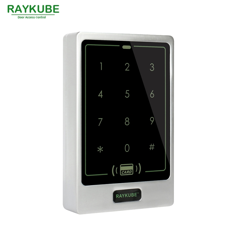 28.01$  Watch here - http://aliv1t.shopchina.info/go.php?t=32756523597 - RAYKUBE Door Access Controller Touch Password Keypad RFID 125HKz Card Reader Waterproof IPX3 R-T02 Silver 28.01$ #buyonline