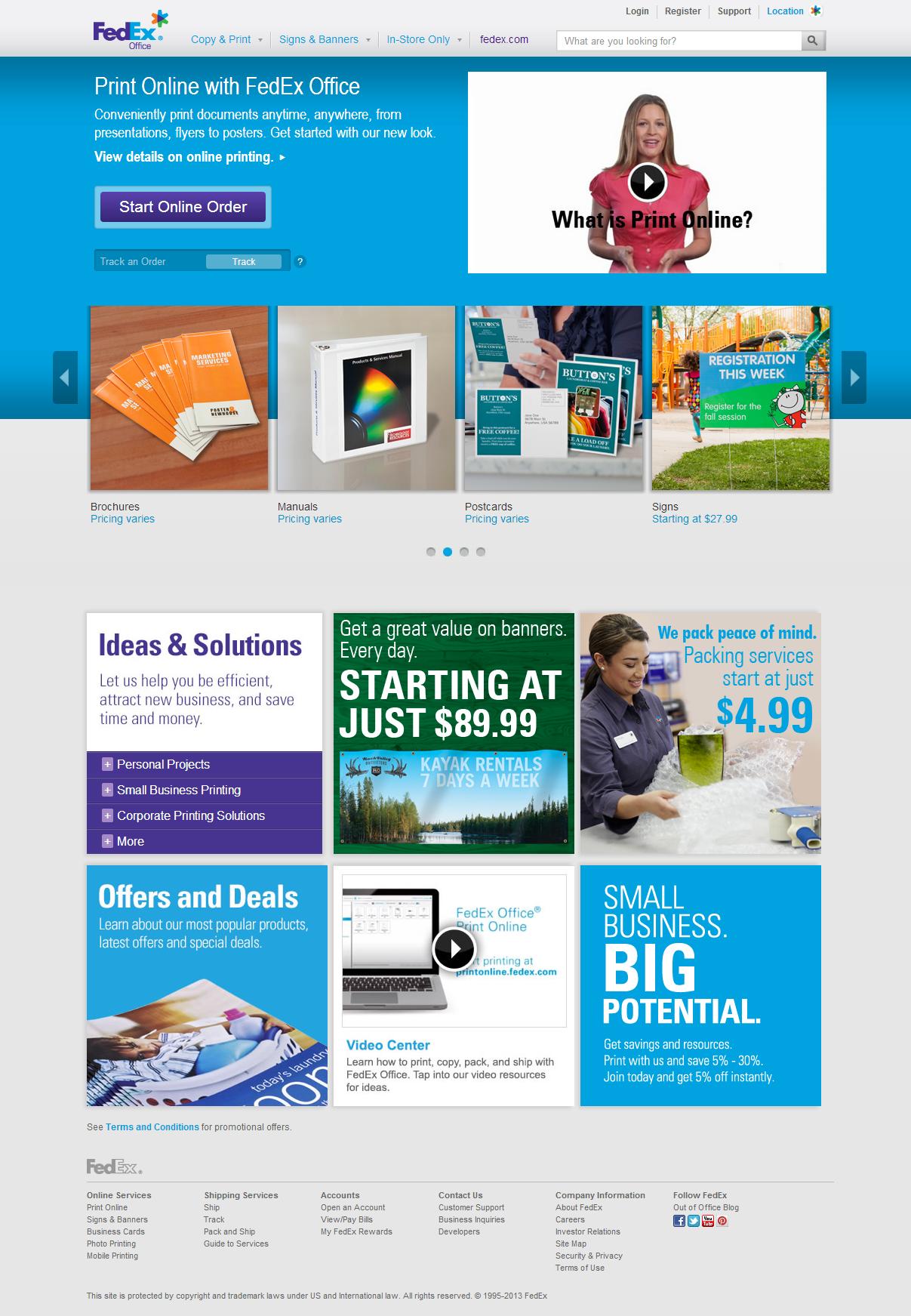 Fedex Office Kinkos Redesign Inspiration Web Design