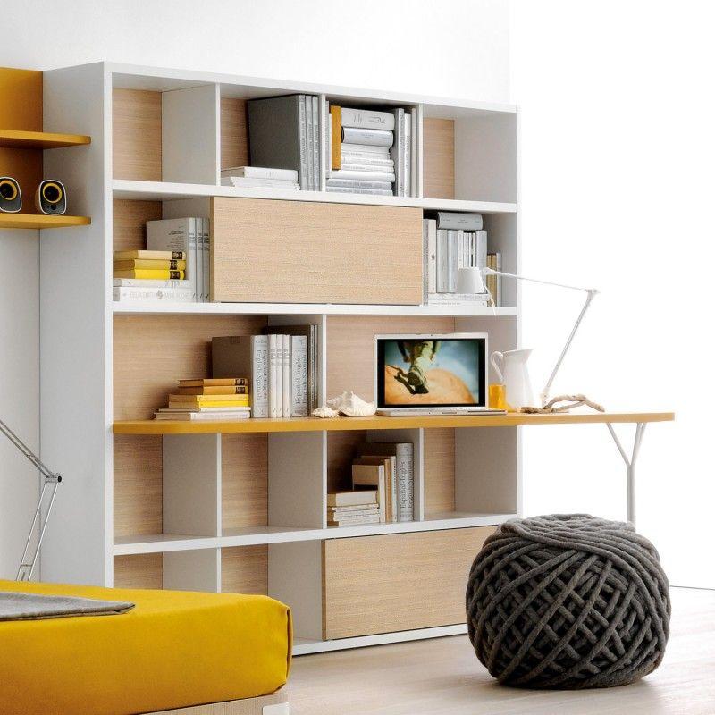 Risultati immagini per scrivania con libreria integrata | cameretta ...
