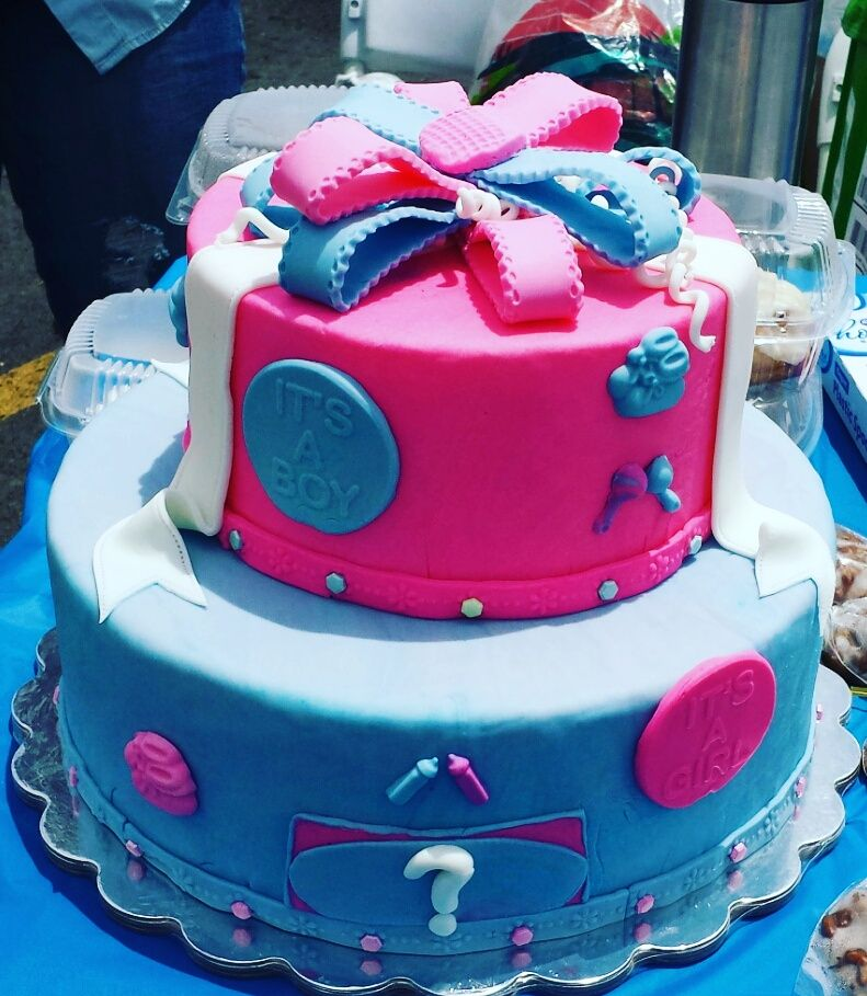 Gender Reveal Baby Shower Cake Los Angeles CA Order Birthday