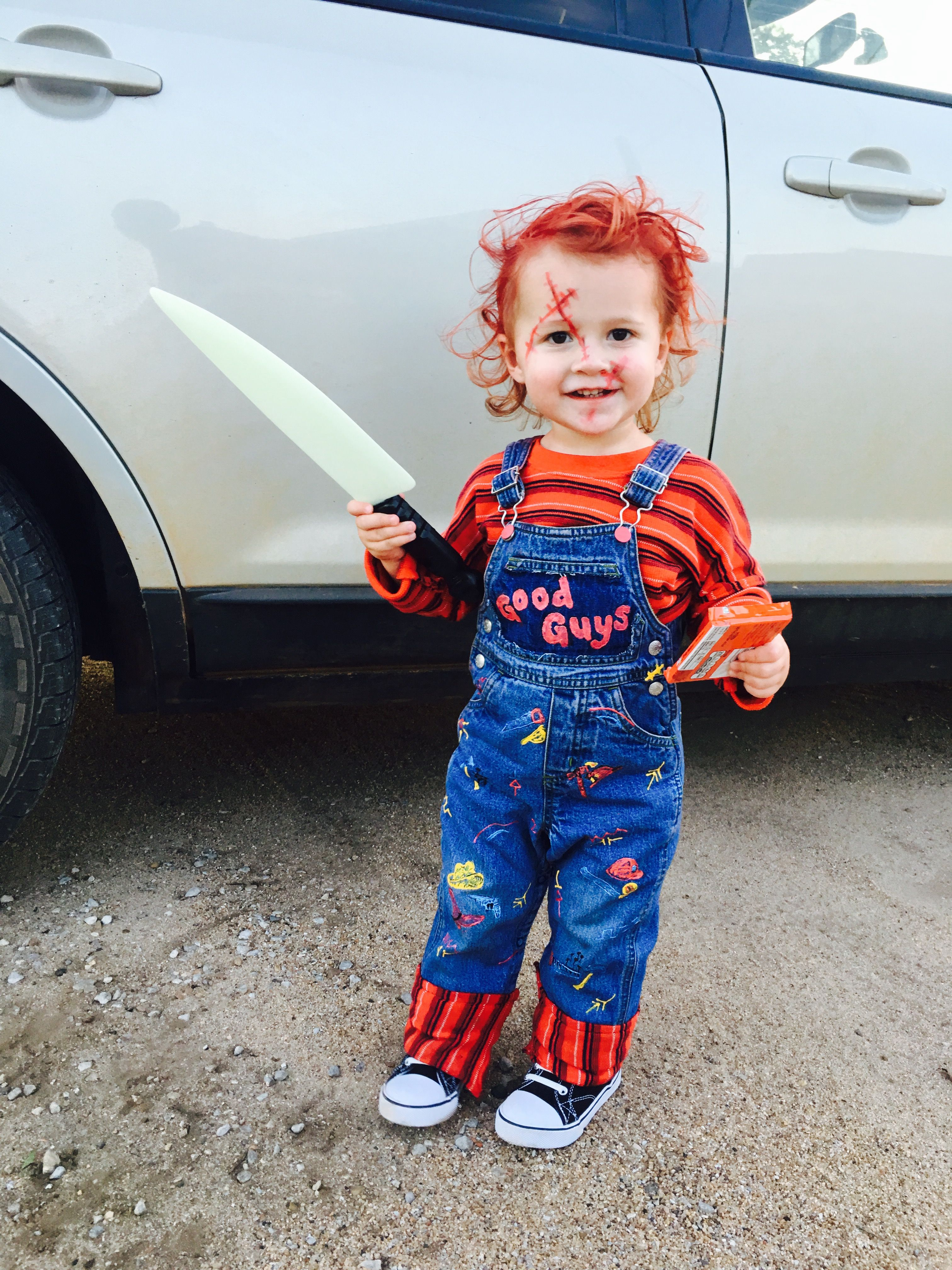 Toddler Chucky diy costume halloween Diy chucky costume