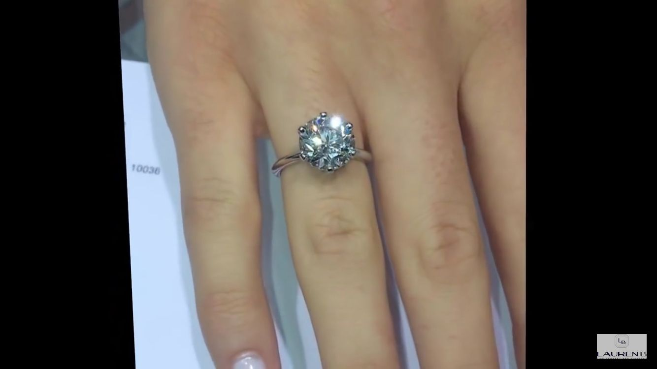 4 Carat Diamond Ring Tiffany Setting Diamond Ring Engagement Rings Tiffany Diamond Ring