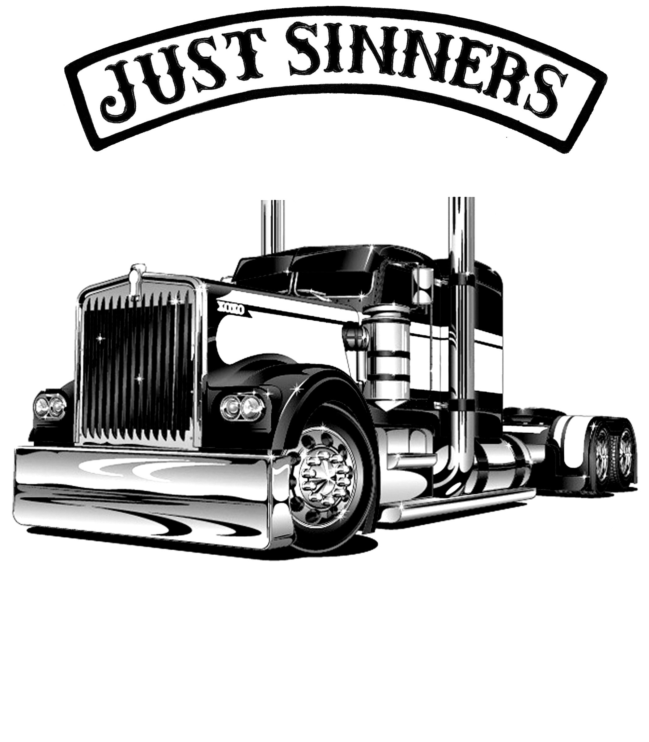 JUST SINNERS SEMI TRUCK | trailers | Pinterest