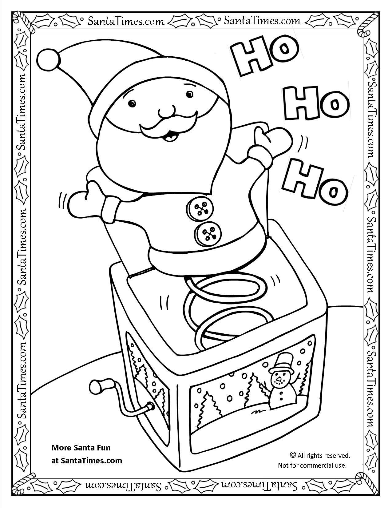 Santa Jack In The Box Coloring Page Printout More Fun