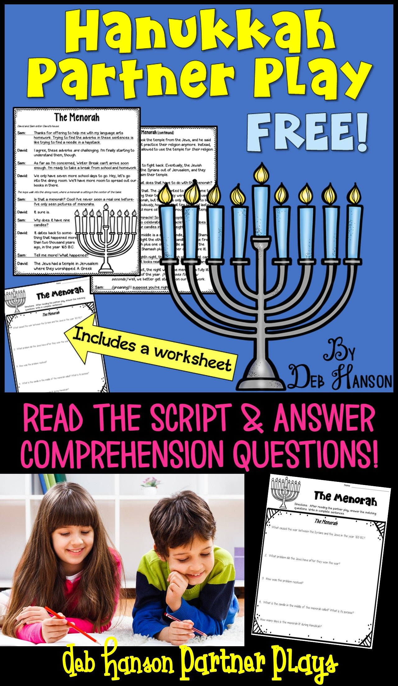 Free Hanukkah Partner Play A Fluency Activity That