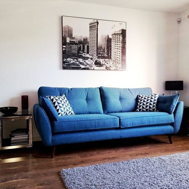 Hello New Sofa Dfs Frenchconnection Living Room Decor Blue Sofa Blue Sofas Living Room Blue Sofa Living