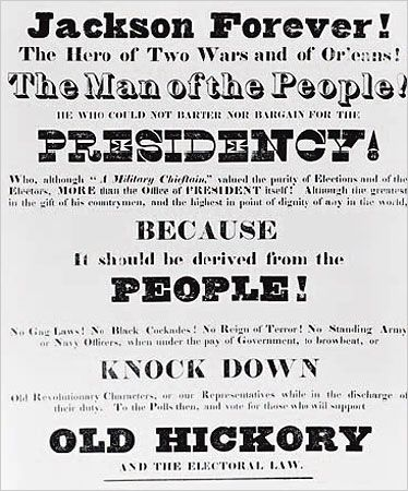 andrew jackson 1828 campaign poster pictures photos and images