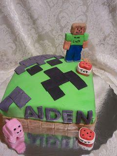 Mine Craft Cake ~ Aspiring Cuisine