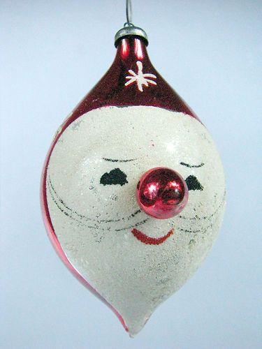 ✯Noël✯Vintage Santa Christmas ornament
