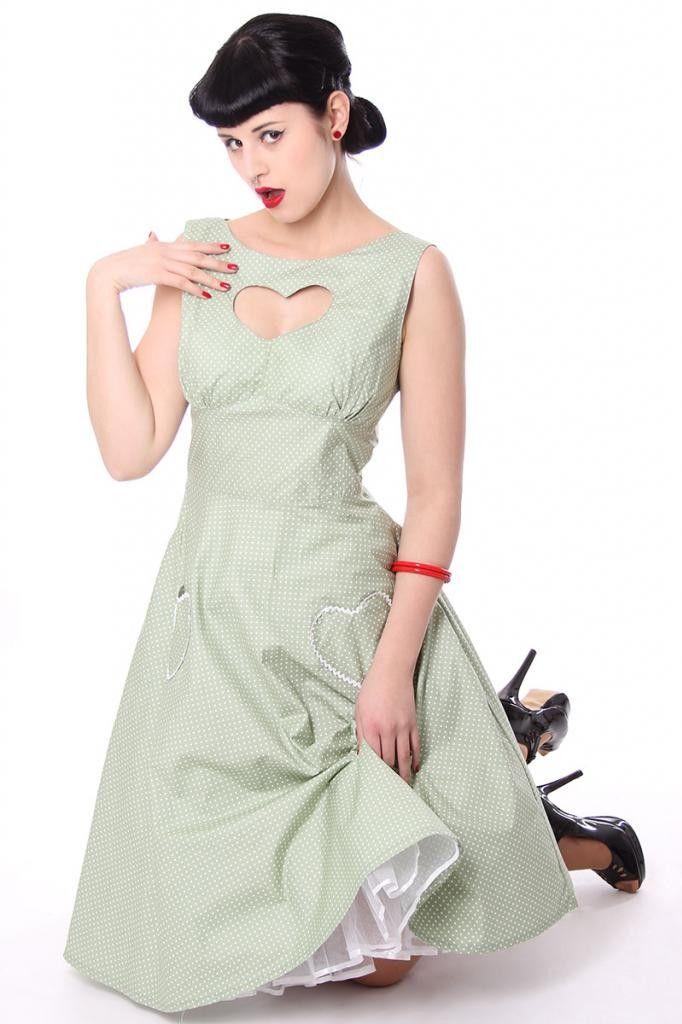 50s retro LOVINA Polka Dots Swing Kleid - Kleider - Girls