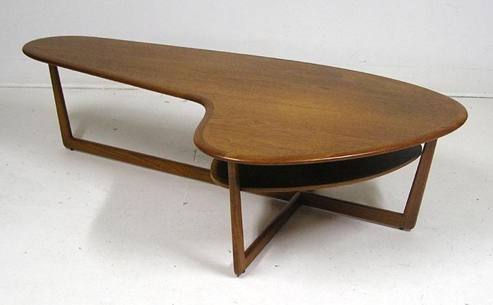 1960s teak boomerang coffee table