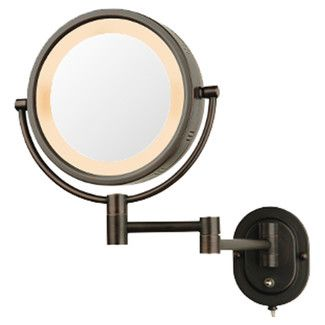 Jerdon Lighted 5x Magnifying Hard Wired Wall Mirror Wayfair Wall Mounted Makeup Mirror Wall Mounted Mirror Lighted Wall Mirror