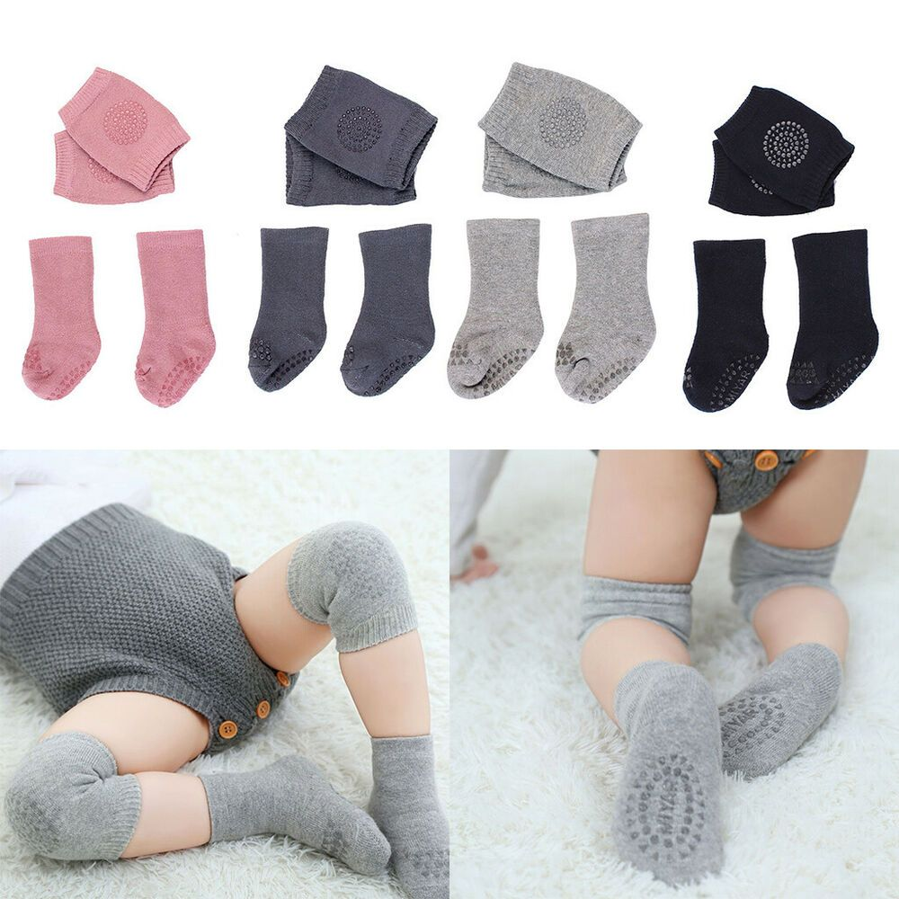 479392eac3 Baby Knee Pads Socks Set Safety Crawling Protection Infant Toddlers ...