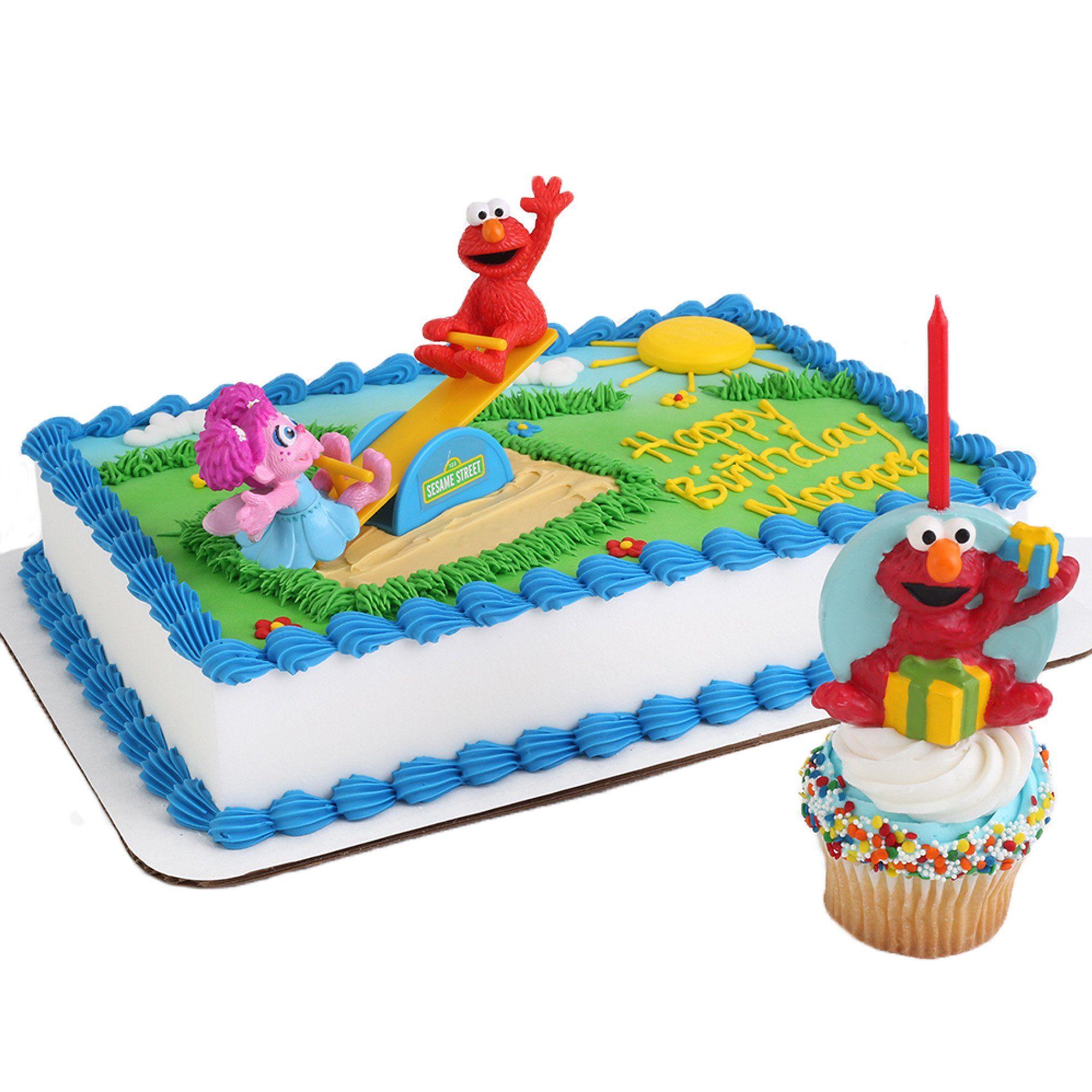 Sesame Street Cake Topper and Elmo Candle Alice Elmo and Minnie