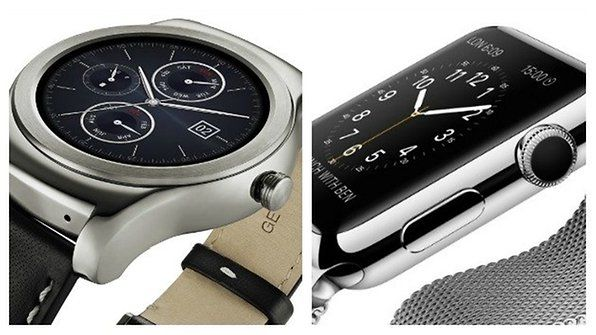AndroidPIT LG Watch Urbane silver Apple Watch