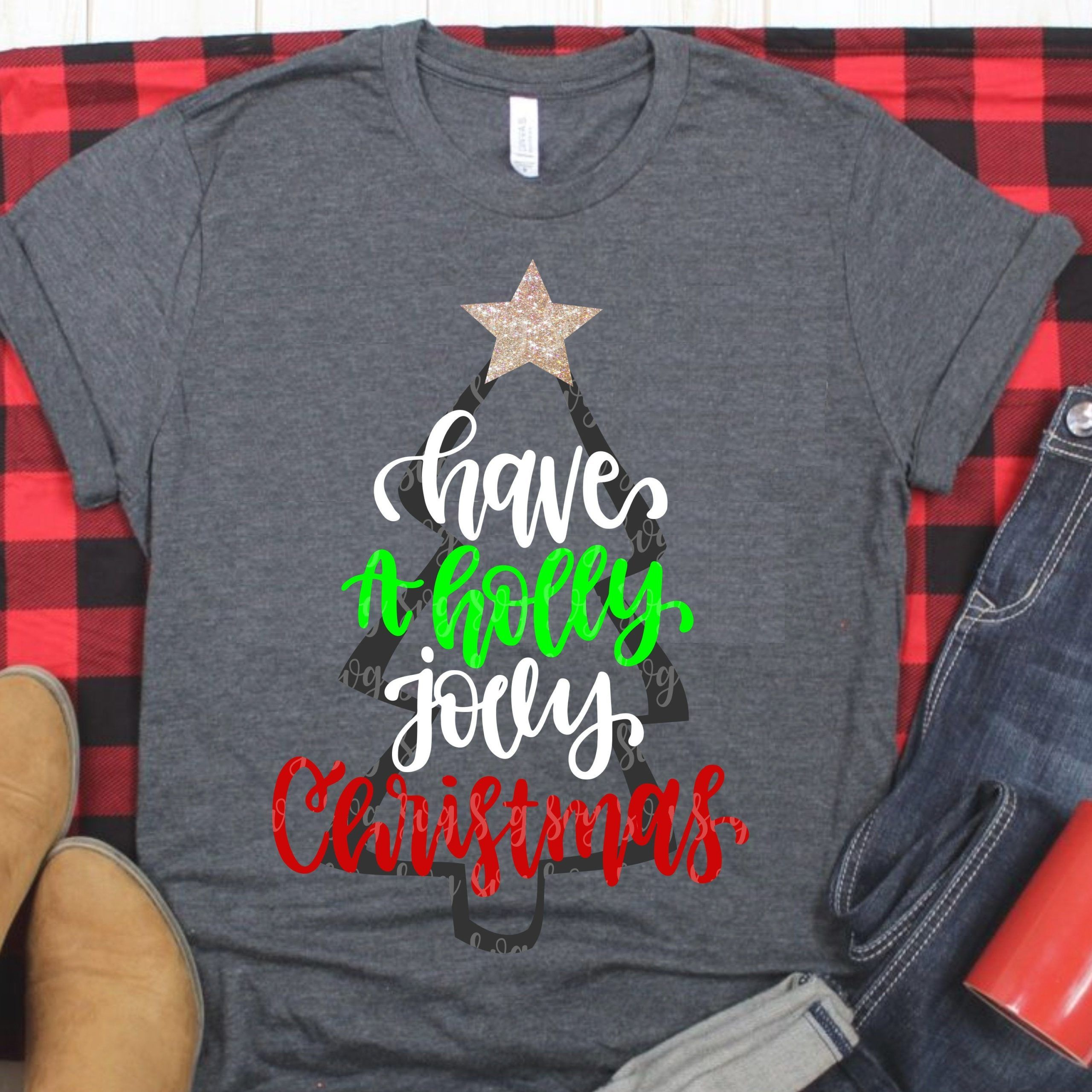 have a holly jolly christmas svg, christmas tree svg,tree