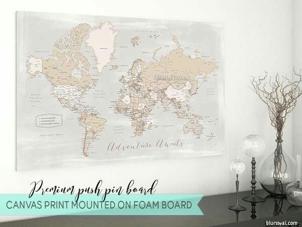 Anniversary gift, husband gift, travel lover gift, push pin map ...