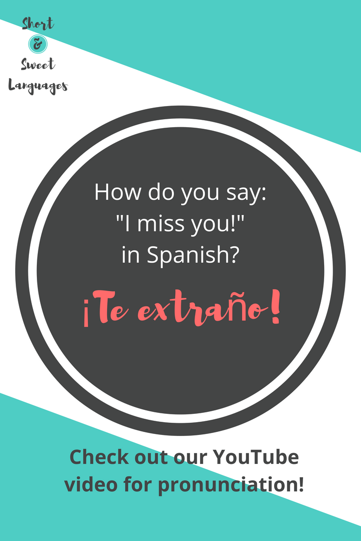 How to say to miss out on something in spanish