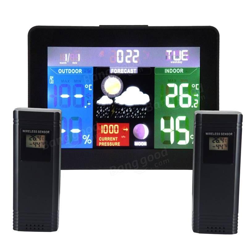 Us Weather Map Barometric Pressure%0A Indoor Outdoor Temperature Monitor Digital Weather Station RCC Thermometer  RH  Barometric Pressure with   Wireless Sensor