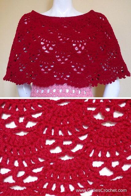 Bea Poncho | Häkeln: Cape, Pelerine, Umhang / Crochet: Cape, Poncho ...