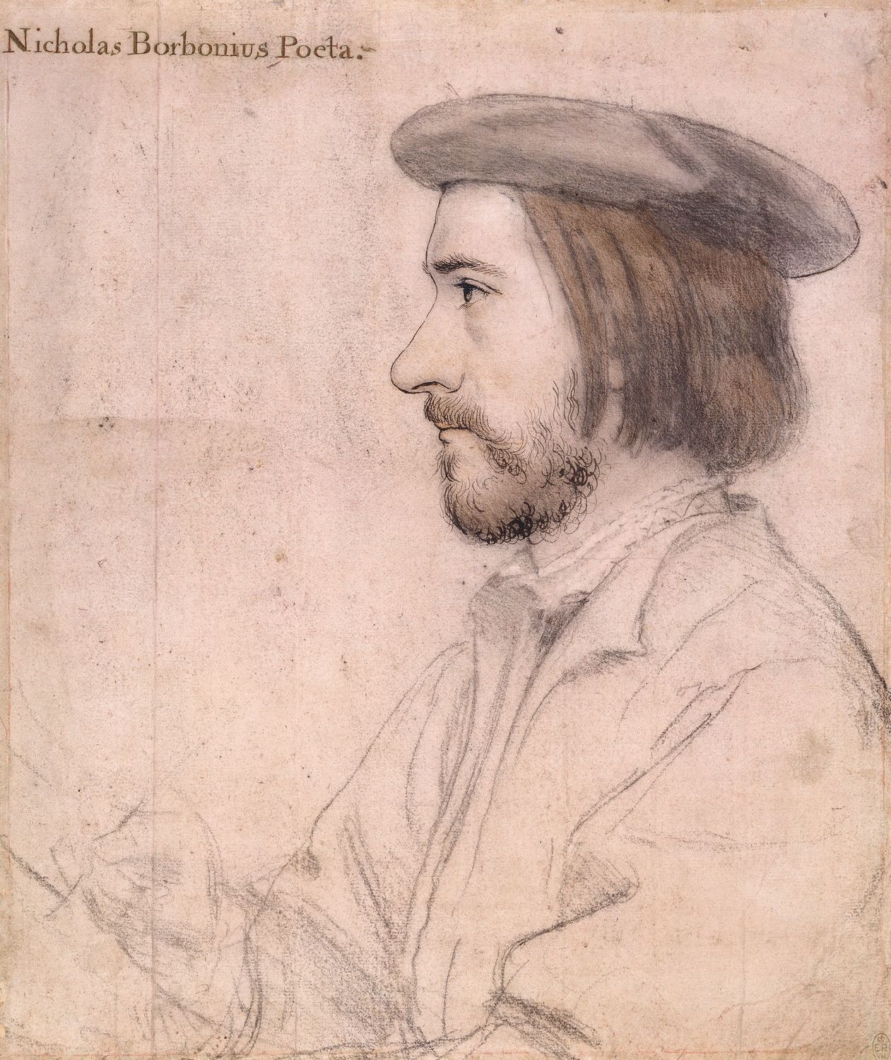 Hans Holbein the Younger, Nicholas Bourbon (1535, Royal Collection Trust, London)