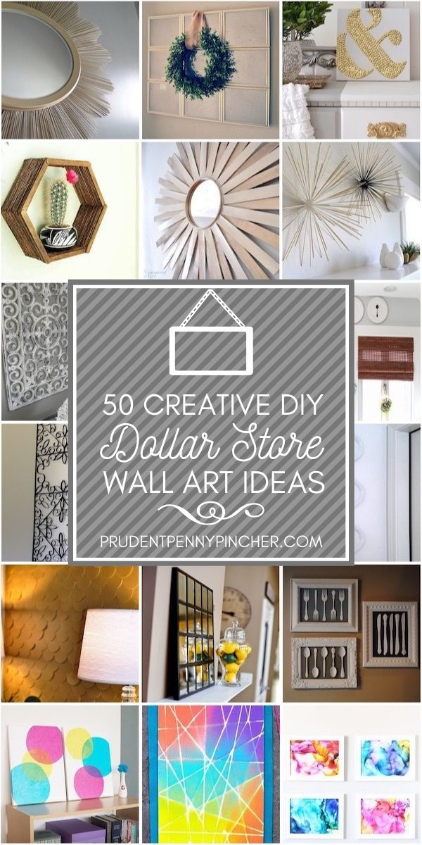 50 Creative Dollar Store DIY Wall Art Ideas