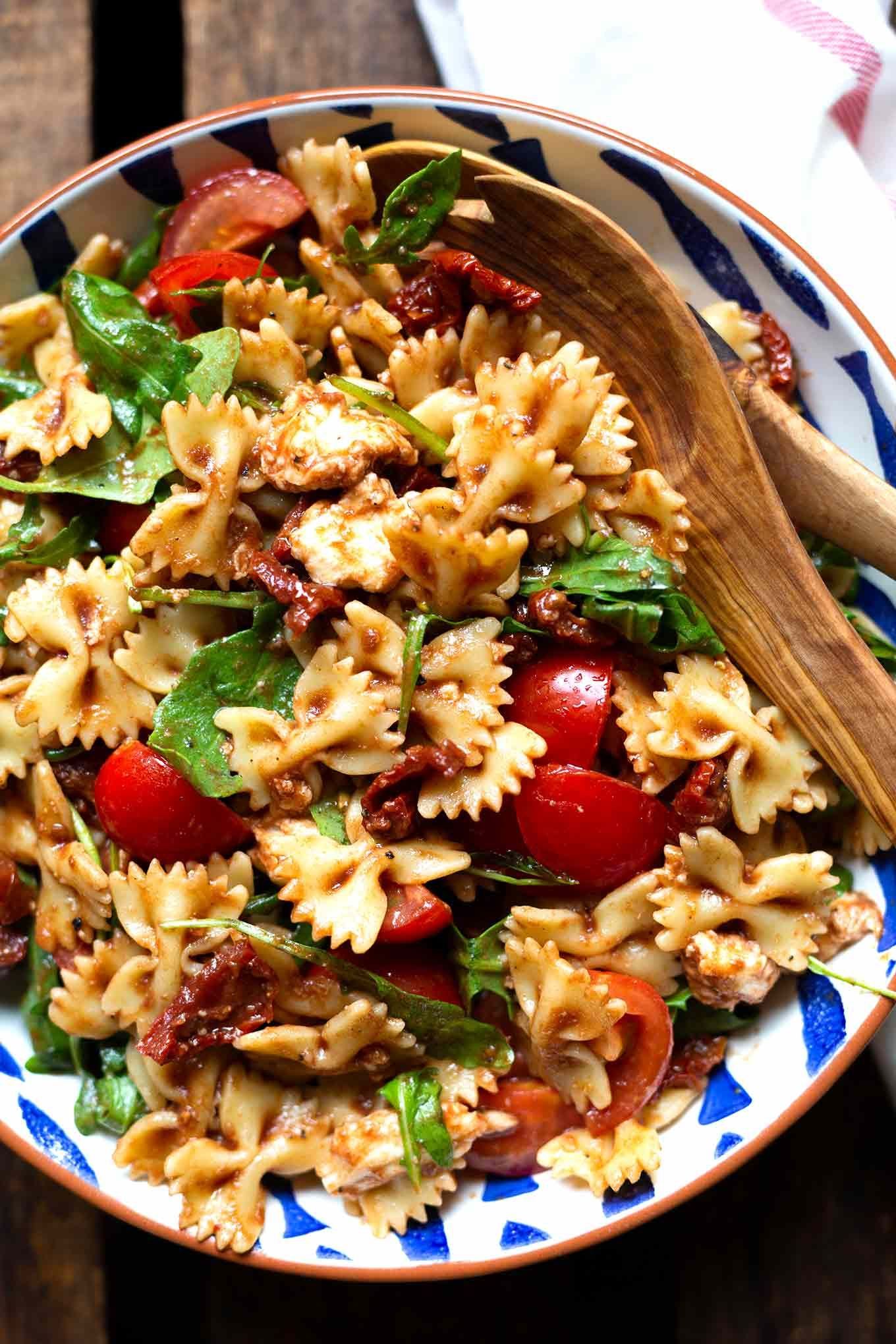 Photo of Simple Italian pasta salad with arugula and tomato cooking carousel