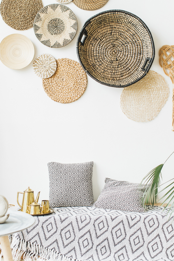 Photo of DIY Boho Basket Wall – Sunlit Spaces | DIY Home Decor, Holiday, and More